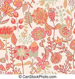 fiore, seamless, modello, struttura