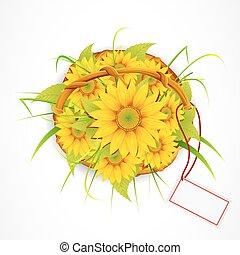 fiore sole, mazzolino