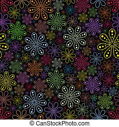 fiore, su, sfondo nero