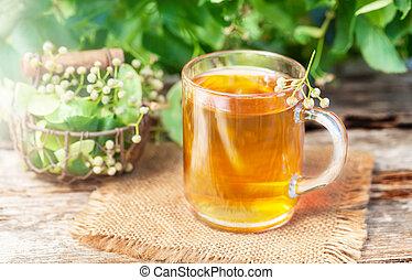 fiore, tè, calce