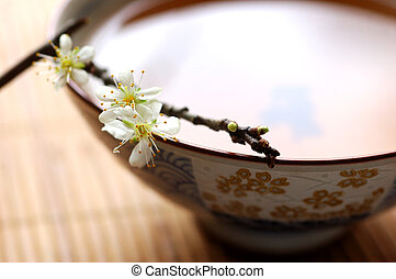 fiore, tè, prugna