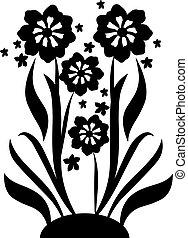 fiori, 2, nero