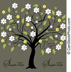 fiori, albero