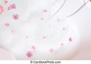 fiori, bagnoschiuma