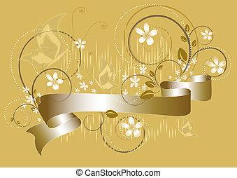 fiori, bianco, giallo, flickerin