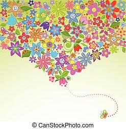 fiori, cartolina auguri