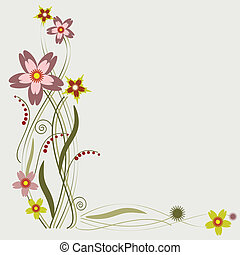 fiori, cornice