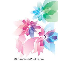 fiori, disegno astratto