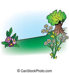 fiori, e, albero