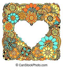 fiori, forma cuore