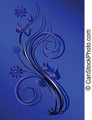 fiori, imporpori sfondo, blu