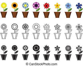 fiori, in, il, otri, profili di fodera