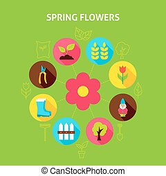 fiori primaverili, concetto