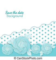 fiori, risparmiare, punti, carta, fondo, data, origami, fiori
