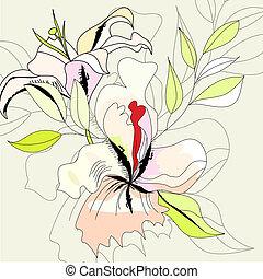 fiori, scheda, augurio
