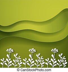 fiori selvaggi, sfondo verde
