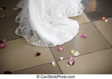 fiori, vestire, matrimonio