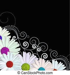 fiori, vettore, colorito