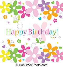 fiorito, scheda compleanno, felice