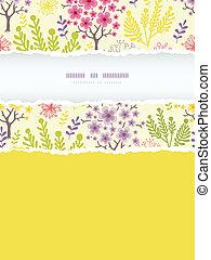 fioritura, colorito, verticale, modello, cornice, strappato...