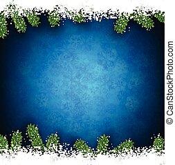 Fir and snow christmas frame. - Detailed frame with fir....