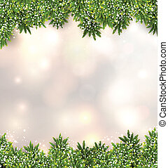 Fir christmas background. - Christmas background with fir...