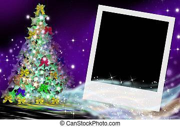 fir Christmas card and picture frame - fir Christmas card...