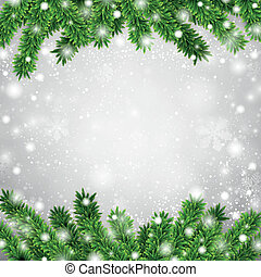 Fir christmas frame. - Detailed frame with fir. Christmas...