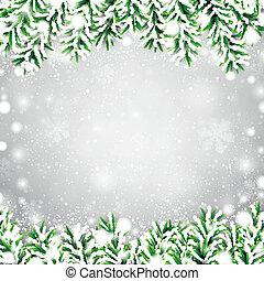 Fir christmas frame. - Detailed frame with fir. Christmas...