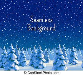 Fir forest seamless background