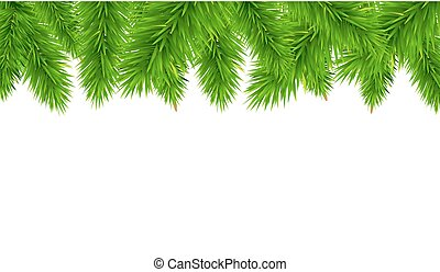 Fir Tree Border, Vector Illustration