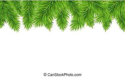Fir Tree Border, Vector Illustration