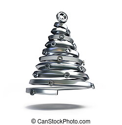 fir-tree, cano, metálico