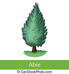 Fir tree cartoon icon