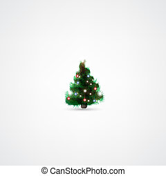 Fir tree for Christmas on white background