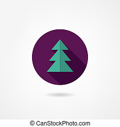 fir-tree, ikon
