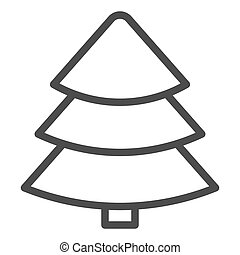 Fir tree line icon. Christmas tree vector illustration isolated on white. Tree outline style design, designed for web and app. Eps 10.