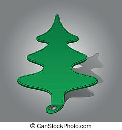 fir-tree on a gray background