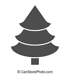 Fir tree solid icon. Christmas tree vector illustration isolated on white. Spruce glyph style design, designed for web and app. Eps 10.