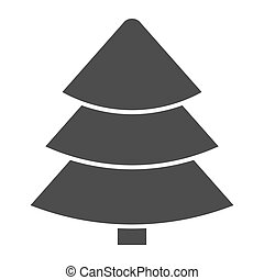 Fir tree solid icon. Christmas tree vector illustration isolated on white. Tree glyph style design, designed for web and app. Eps 10.