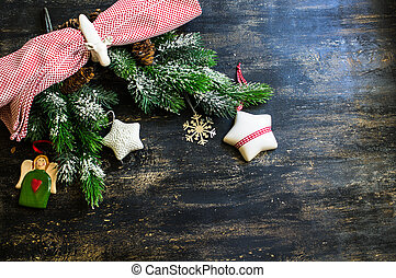 Fir tree with christmas decorations
