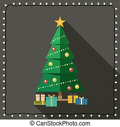Fir tree with gifts.