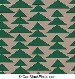 fir-trees, pattern., seamless, fundo, natal
