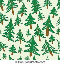 Fir-trees seamless texture