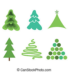 Fir trees simple collection