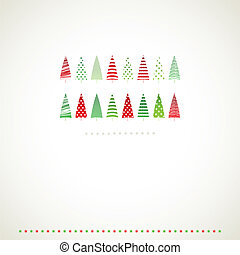 Fir-trees winter events background.