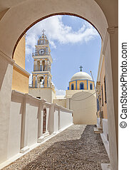 Fira catholic cathedral 01 - The catholic cathedral situated...