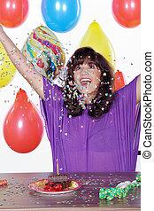 fira, födelsedag, fru