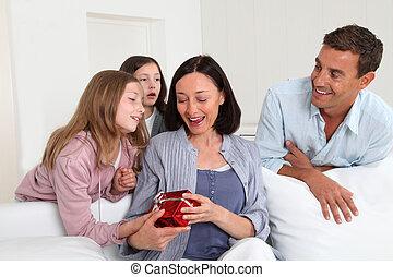 fira, lurar, fader, dag, mor