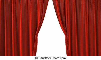 firanki, aksamit, czerwony, teatr, otwarcie